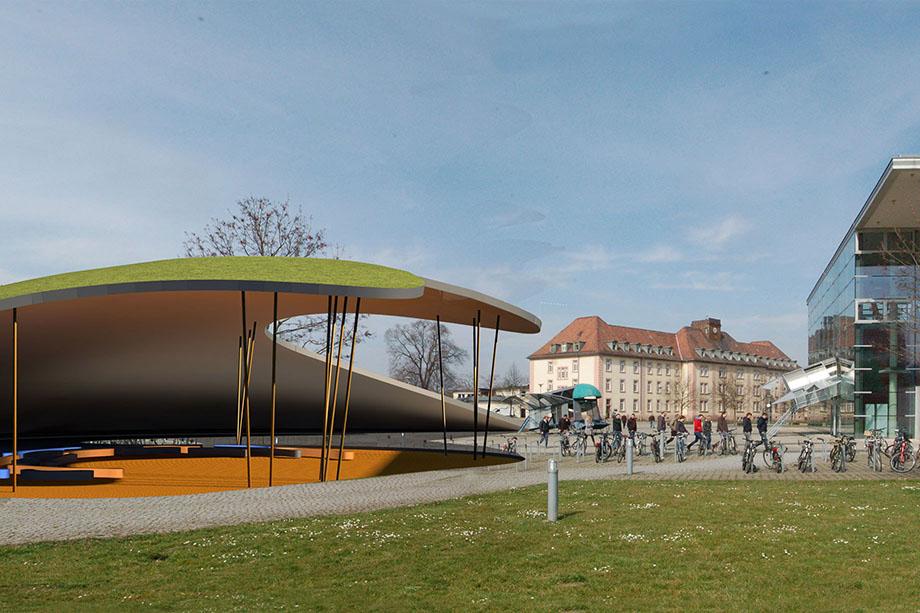 Ursel architekt campuspavillon f r die uni freiburg for Architekt voraussetzungen