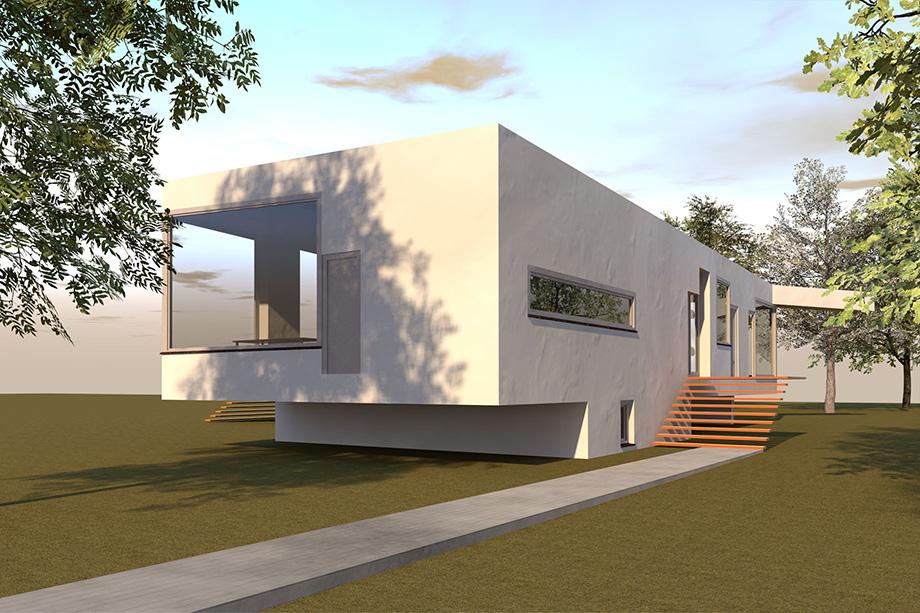 Architekten Bungalow ursel architekt » bungalow in parklandschaft